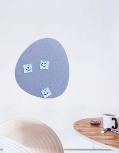 Pebble Pinboard, Small in Peri Whiteboard, Wall Spaces, Fiber, Decals, Strong, Shapes, Texture, Stylish, Colors