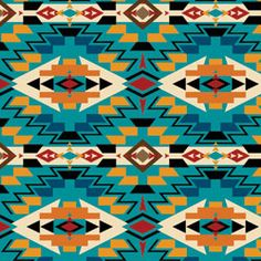 This fabric is really great - Windham Painted Desert Chief Joseph Blanket Turq