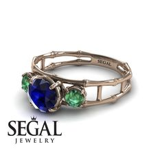 Flower Engagement Ring by Segal Jewelry Elegant Engagement Rings, Deco Engagement Ring, Gemstone Engagement Rings, Rose Gold Engagement Ring, Engagement Ring Buying Guide, Blue Sapphire Rings, White Gold Rings, Jewelry, Gold Wedding