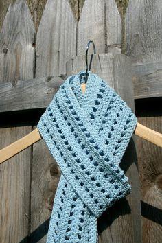 Light Blue Crochet Scarf by RoseCarnationCrochet on Etsy, $18.00