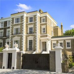 5 bedroom semi-detached house for sale in Marlborough Place, St John's Wood, London, - Rightmove. London Townhouse, London House, Semi Detached, Detached House, John Wood, Mansion Interior, Dream House Exterior, Sims House, Big Houses