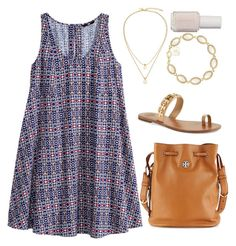 """""""Untitled #234"""" by mg72303 ❤ liked on Polyvore featuring H&M, Kate Spade, Tory Burch, Essie and Kendra Scott"""