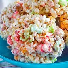Rainbow popcorn ball, part of the Christmas luncheon at JL Hudsons