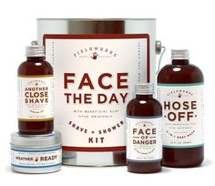 Fieldworks Supply Company - Face the Day Shave & Shower gift set, the perfect man's gift for Valentine's Day.