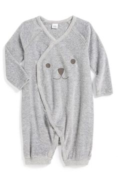 Nordstrom Baby Velour Wrap Romper (Baby) (Nordstrom Exclusive) available at #Nordstrom