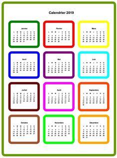 10 Calendrier 2019 À Imprimer ideas | calendar printables