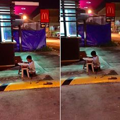 A homeless boy in the Philippines is getting help after a student snapped a photo of him doing his homework outside because he had nowhere else to go.