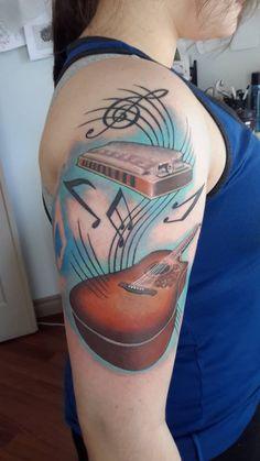 My tattoo, norman b-18 and harmonica