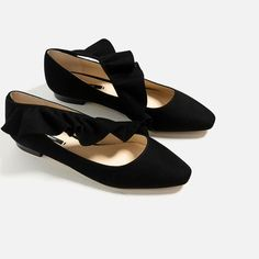 Image 5 of FRILL DETAIL BALLERINAS from Zara