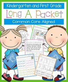 These worksheets, games, books, and activities will teach the long a sound.  Most pages require no prep.  All are engaging for students and make learning to read and spell long a words fun.  Pages Included:*Long A Rules (teaches the silent e, when two vowels go walking the first one does the talking, and the ay sound)*Nate's Big Day - A long a story to illustrate, cut, and staple*Long A Game - Players move their pieces through a game board with long a words*Long A Go Fish*Long A Cut and ...