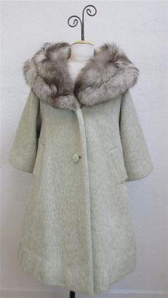 1950's Lilli Ann Cream Mohair Swing Coat by MTvintageclothing