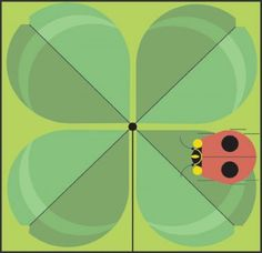 Charley Harper Store | Doublelucky (Ladybug & 4-Leaf Clover) - Notecard Pack | Largest Dealer in the World
