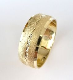 A personal favorite from my Etsy shop https://www.etsy.com/il-en/listing/169238372/wedding-band-mens-womens-gold-wedding