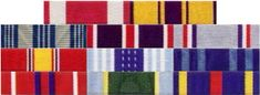 medal ribbons on army uniform - Google Search