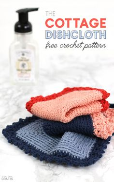 Free Crochet Dishcloth Pattern: Cottage Dishcloth - Consumer Crafts