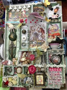 How could I make one with a diifferent book theme? This is Alice+In+Wonderland Altered Art by+Thepiecebypiece.