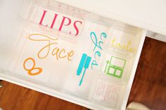 Drawer organization - silhouette labels!