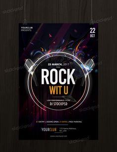 Rock Wit U – Free PSD Flyer Template