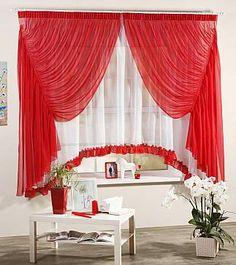 Купить комплект штор «Изабелла (красная)» красный/бордо, белый по цене 4560 руб. с доставкой по Москве и России - интернет-магазин «ТомДом»