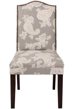 Charming Custom Camel Back Parsons Chair With Nailhead Trim