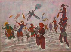 """Polar Bears (New Year),"" 36 x 48 inches, by George Johanson"