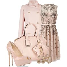 Pink Elegance by happygirljlc on Polyvore featuring Valentino, Ted Baker, Giuseppe Zanotti, Red Herring, Ileana Makri and Astley Clarke