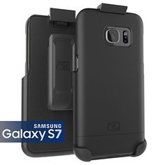 Samsung Galaxy S7 Case Encased Ultra-thin [SlimSHIELD] Case & Belt Clip Holster for Samsung Galaxy S7 (2016) Ultimate Style  Protection (Smooth Black)