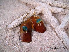 Sea Glass Earrings Czech Beads by SeaGlassJewelryatSeaGlassVisions, via Flickr