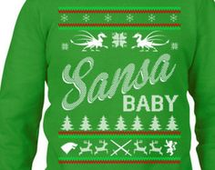 Ugly Christmas Sweater Party, Ugly Christmas, Ugly Sweater Contest, Game of Thrones Sansa Sweatshirt, Christmas Sweatshirt