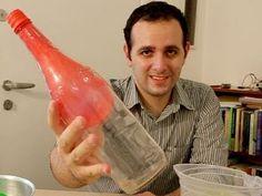 Encha bexiga dentro da garrafa sem assoprar - Experiência de física