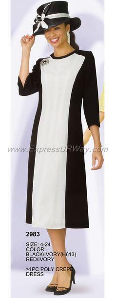 Lily and Taylor 2983 Poly crepe long sleeve color block church dress. Church Suits, Church Dresses, Short Dresses, Dresses For Work, Maxi Dresses, Church Fashion, Maxi Dress Wedding, African American Women, Colorblock Dress