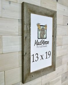 Barn Wood [Thin x MadMoose Picture Frame by LunarCanyon 3 Picture Frame, Barn Wood Picture Frames, Nail Holes, Rustic, Country Primitive, Retro, Farmhouse Style, Primitives, Country