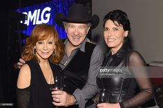 Singer Reba McEntire, musician Kix Brooks, and Barbara Brooks attend as Big Machine Label Group celebrates The 49th Annual CMA Awards at Rosewall on November 4, 2015 in Nashville, Tennessee.