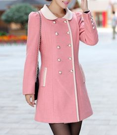 Images of Pink Winter Coat - Reikian