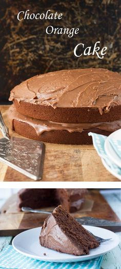 Chocolate orange cake by Scrummy Lane. Light, rich and moist - just as I'd hoped! Perfect for Christmas!