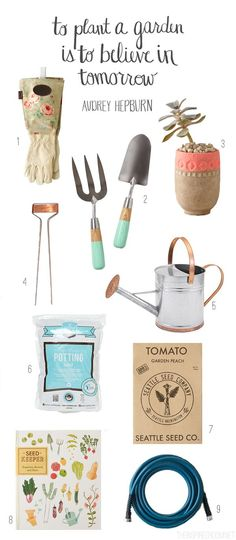 Pretty gardening supplies and tools // The Inspired Room