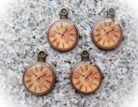 Charms - Klockor brons- 5 st