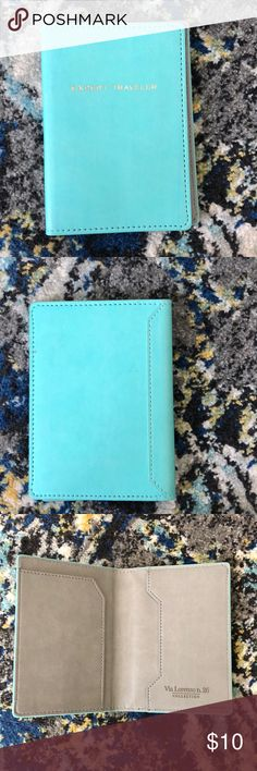 Seafoam Passport Cover / Passport Holder Never used! 'EXPERT TRAVELER' embossed in gold. I bought this from TJ Maxx and never got around to using it. Accessories