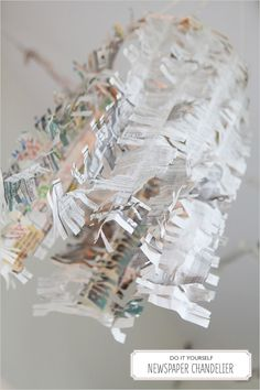 crepe paper instead for this diy chandelier