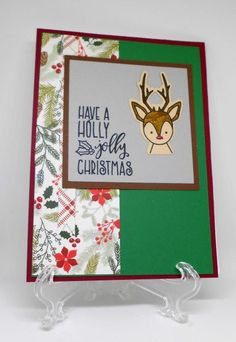 Handmade Christmas card by Gina using the Jolly Jingles stamp set from Verve. #vervestamps