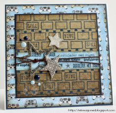 {Re}kreasjoner: Gamer card for a young boy. Boy Cards, Kids Cards, Birthday Cards For Boys, Boy Birthday, Paper Stars, Scrapbook Cards, Scrapbooking, Funny Cards, Masculine Cards
