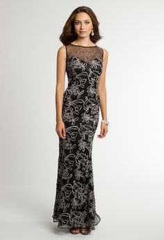 Soutache Dress with Beaded Illusion Neckline from Camille La Vie and Group USA