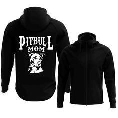 Pitbull Mom Full Zip Hoodie (2017 Edition)