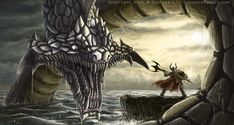 Jormungandr, the world serpent, middle child of Loki, said to be the one to kill Thor in Norse mythology.
