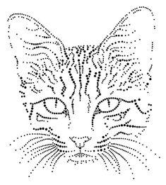 Katten Poezen | Katten/Poezen | glittermotifs Embroidery Cards, Hand Embroidery Patterns, Beaded Embroidery, Embroidery Designs, Tulip Painting, Dot Art Painting, Painting Patterns, String Art Templates, String Art Patterns
