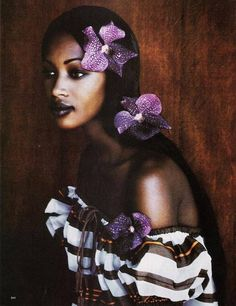 "Harper's Bazaar august 1992 ""Paul Gauguin""-Peter Lindbergh Naomi Campbell"