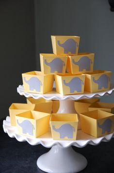 Elephant Candy Cups Elephant Baby Shower Elephant by GiggleBees, $12.00
