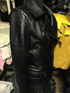 New season leather jacket !!