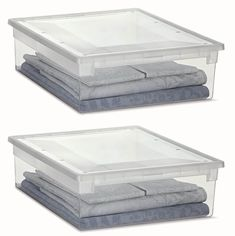 2 Stück XL Aufbewahrungsbox mit Deckel aus transparentem Kunststoff und XL Stauvolumen! Maße: 37,6 x 52 x 13,9 cm: Amazon.de: Baumarkt Tissue Holders, Storage Boxes, Mattress, Home Decor, Household, Ideas, Storage Crates, Decoration Home, Room Decor
