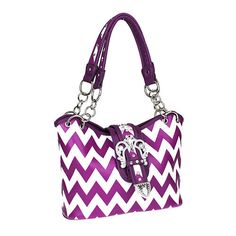 Concealed Weapon Purse Western Buckle Bling Concealed Carry Gun Bag Chevron